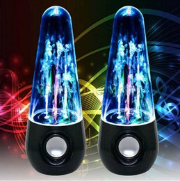 Wholesale Speakers LED Water Dancing Wired Subwoofer Mini Portable Speaker Loudspeaker Audio Player