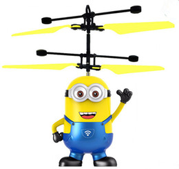 Wholesale Minion Led - cartoon Air RC Flying Ball 5 styles flying minions Built-in Shinning LED Lighting for Kids Teenagers Colorful Flyings