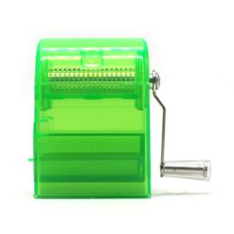 Handkurbel gewürzschleifer online-Acryl Hand Grinder Handkurbel Grinder Kunststoff Tabak Spice Crusher 5 Farben 76mm * 62mm * 105mm Qualität Freies Verschiffen