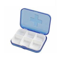 Wholesale Medicine Jewelry - Pill cases 6 Cells Mini Pill Storage Box Plastic Cases for Medicine Jewelry Organizers Medication Tablet boxes ZA2140