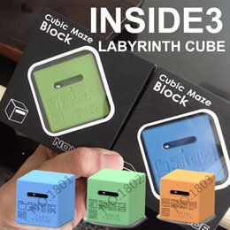 Wholesale Cube Blocks Game - MAZE INSIDE 3 cubic maze block NoVICE Labyrinth Cube brain game Decompression Toy Christmas gift (Easy getting Started general) wholesale