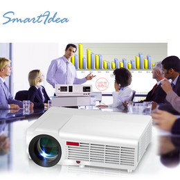Wholesale Proyector Tv - Wholesale-Home Theater LED Projector 1080P Full HD support 1280*800 resolution 5500Lumens HDMI VGA AV USB TV Best Home Cinema Proyector