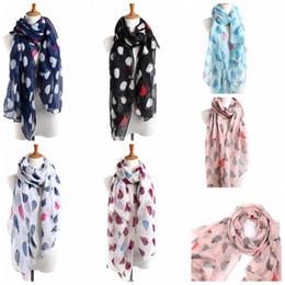 Wholesale Long Voile Scarves - Fashion Womens Scarves Hedgehog Pattern Printed Long Voile Scarf Warm Wrap Shawl 180*90cm 6 design KKA2702