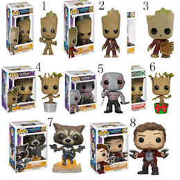 Wholesale 12 Inch Figures - 2017 new Guardians of the Galaxy Action Figures cartoon Groot toys Decoration 10cm 4 inches 12 styles C2325