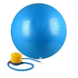 Wholesale Balance Balls - Wholesale-55cm Gym Exercise Workout Yoga Slimming Balance Pilates Balls Anti-Burst and Slip Resistant Fitness Sport Ball with Pump