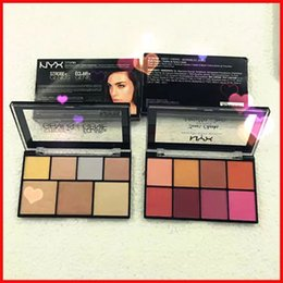 Wholesale new genius - New NYX Sweet Cheeks Blush Palette 8 color & Genius Genie Highlither Makeup Palette 7 color DHL Shipping