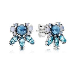 Wholesale Colored Earring Studs - Patterns of Frost, Multi-Colored Crystal Stud Hoop Earrings For Women 290731NMBMX