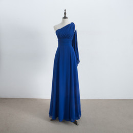 Wholesale Convertible Bridesmaid - Long Chiffon Convertible Bridesmaid Dress Lace Up Royal Blue Wedding Bridesmaid Gowns For Party 100% Real Pictures