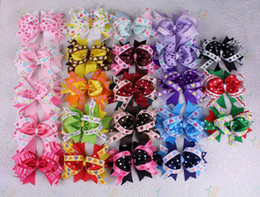 Wholesale Alligator Hair Clips Bows - Hair Bows with Alligator Clip Boutique baby Girl children 4inch Grosgrain Ribbon Hot New Hair Accessories