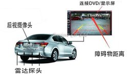 Wholesale Sensor Parking Lcd For Car - eight sensors car parking sensor pz600-8 fit for TFT LCD DVD rearview mirror display 2 front 4 rear automatically work free dhl