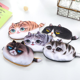 Wholesale Stationery Gift Boxes - Kawaii Pencil Case Novelty cat flannel School Supplies Bts Stationery Gift Estuches School Cute Pencil Box Pencil Bag