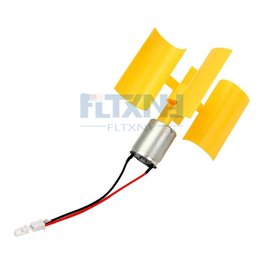 Wholesale vertical axis - 5PCS LOT New type of vertical axis micro wind turbines Small dc wind turbines (with F 5mm LED lamp bead) for christmas gift