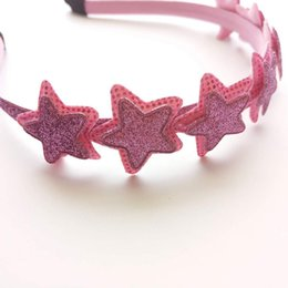 Metallic Puplish Star Diadema Glitter Sweet Hairband Vintage Girl Fashion Head Wear Diario Banda Regalo de cumpleaños Accesorio 10pcs / Lot desde fabricantes