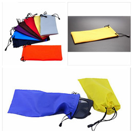 Wholesale Waterproof Leather Sunglasses Pouch - Waterproof Leather Plastic Sunglasses Pouch Soft Eyeglasses Bag Sun Glasses Case Many Colors Sunglasses Bags YYA197