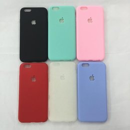 Wholesale Soft Tpu Silicone Back Case - For Iphone 7 7plus Ultra Thin Candy Colors Soft TPU Silicone Rubber Gel Phone Case Back Cover For iphone 6 6S Plus 6S 5S Slim Case