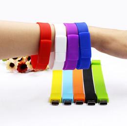 Wholesale Gift Flash Drive Bracelet - Free shipping New arrive! 7 colors beauty bracelet pen drive pendrive 4GB 8GB 16GB 32GB usb flash drive wristband memory Stick fashion gifts