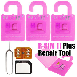 Wholesale 4g Adapters - R SIM 11+ Unlocking Card rsim 11 Plus IOS10.X LTE 4G Smart Cloud Card For iPhone 7 6 6s 5 with Plastic Package