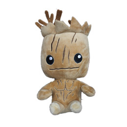 Wholesale Marvel Comics Gifts - Marvel Superhero Guardians of the Galaxy 22-25cm(9inch) Groot Plush dolls toys for Christmas gift EMS shipping A 080