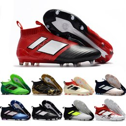 Wholesale Outdoor Football Shoes - 2017 Cheap Wholesale ACE 16+ PureControl FG 2017 NEW Men's Soccer Shoe boots cheap Performance Mens ace 17 soccer cleats football shoes