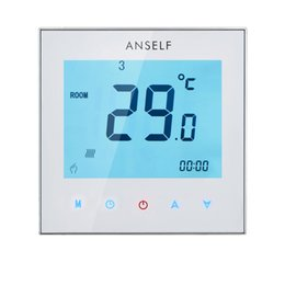 Wholesale Room Thermostats - 3A 110-230V Weekly Programmable LCD Display Touch Screen Water Heating Thermostat Room Temperature Controller H15537