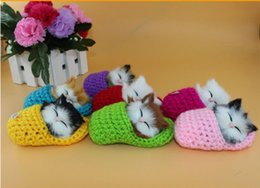 Sapatos de simulações on-line-7 cores IDE Super Bonito Simulação Sapato Gatinhos Gatinhos Gatos de Pelúcia Crianças Apaziguar Boneca de Natal Presentes de Aniversário