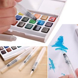 Wholesale Pilot Pens - Wholesale- Refillable Pilot Water Brush Ink Pen for Water Color Calligraphy Drawing Painting Illustration Multi Function Stationery 3PCS