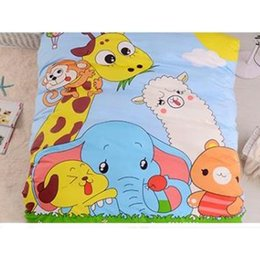 Wholesale kids christmas bedding sets - 2017 Lion Animal Elephant giraffe Boys Girls Cartoon Super mario Cotton Children 4pcs Bedding Set Kid Bedding Christmas Gfit Free Shipping