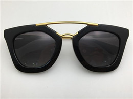 Miroir du milieu en Ligne-New spr lunettes de soleil 09Q cinéma lunettes de soleil revêtement miroir lentille polarisée lentille vintage rétro style carré cadre or milieu femmes designer