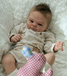 Wholesale Toy Baby Doll Lifelike - 17inch DIY Silicone Reborn Doll Kit BeBe Reborn Lifelike Babies Bebe Doll Kit Toys Accessories For 45cm Reborn Doll COOMALU Mold