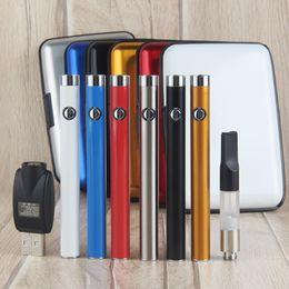 Wholesale Cigar Pen Kits - Mini CE3 Box Kit With 280mAh Battery Oil Bud Touch Vaporizer O Pen Vape 510 Thread Cartridge USB Charger Box Case e cigar