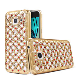 Wholesale Iphone 5s 3d Bling Case - 3D Bling Diamond Electroplate Ultra Slim Hollow Soft TPU Case for iPhone 5S 6 6S 7 Plus S6 S7 Edge Lattice Grid Rhinestone Capa Back Cover