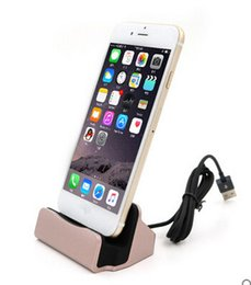Wholesale Station For Mobile - Universal Charger Docking Stand Station Mobile Smart Phone Charging Device Sync Dock Type C For For iPhone Samsung with Retail Box