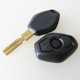 Wholesale Best Track Cars - Best car 3 button remote key shell for BMW car replacement key blank case with 4 track HU58 BLADE