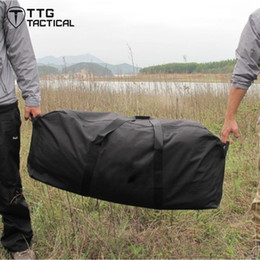 Wholesale football equipment bags - Wholesale- Extra Large Capacity Car Duffle Bags Car Storage Equipment Luggage Bags Camping Travel Packing Backpack House Moving Bags Black