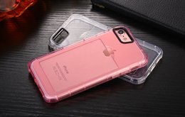 Wholesale Transparent Coloured Iphone Cases - For Iphone 7 6PLUS phonecases TPU Transparent Colour Fancy Colour ultra-thin Soft Back Cover Breakproof Free Shipping