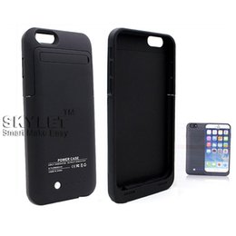 Wholesale External Charger Battery Case - 3500mAh Power Bank Case For Iphone 6 Rechargerbale Power Bank Backup External Battery Charger Case 5000mAh Iphone 5 5S IPHONE6