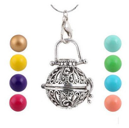 Wholesale Mexico Gifts - NEW 100% Nice Mexico style Hollow Baby Bola Harmony Ball Chime Pendant Pregnant necklaces Women Gifts Pregnant necklace