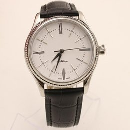 Wholesale Strap New Product - 2015 New Products Men's Watch Mechanical Automatic Movement Nice Men Cellini Sapphire Glass Mens Business Leather Strap Watches.