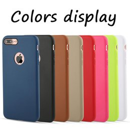 Wholesale Iphone Gel Skin - For iPhone 8 Cases Candy Color Original Design Official Coque Slim Soft TPU Silicone Gel Case Cover Skin For iPhone 8 7 Plus 6 6S 5 5S SE