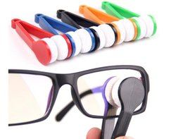 Wholesale Spectacle Cleaning - 2016 NEW hot multi colors Essential Microfibre Glasses Cleaner Microfibre Spectacles Sunglasses Eyeglass Cleaner Clean Wipe