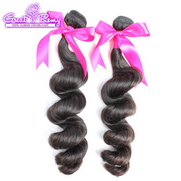Wholesale Top Wholesale Malaysia - 2pcs lot 10A Double Drown Brazilian Peruvian Indian Virgin Human Hair Weave Bundles Top Malaysia Best Quality Loose Wave Greatremy Outlets