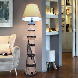 Wholesale Mediterranean Floor Lamps - The Mediterranean simple creative children bedroom floor lamp room Nordic sea lighthouse vertical desk lamp free shipping