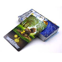 """Wholesale Family Board Games New - Wholesale- """"Animal Tarot"""" Board Game 78 PCS Set New Design Cards Game Chinese English Edition Tarot Board Game For Family Friends"""