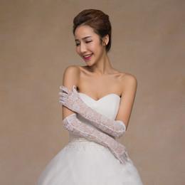 Sheer Lace Vollfinger Braut Brauthandschuhe über dem Ellbogen lange Hochzeit Handschuhe für Braut schwarz / rot Party-Accessoires für Frauen von Fabrikanten
