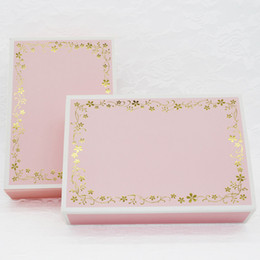 Wholesale Cardboard Package Cake - 20pcs pack: 18.3x12x4.5cm Pink lace cake box gift box candy packaging for decorative package kraft cardboard boxes paper box