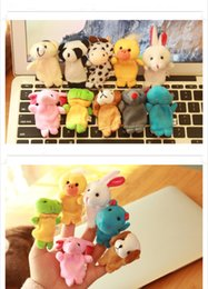 Wholesale Hand Puppets Toys - Children's Gift Animal Puppet Baby Plush Toy Finger Puppets 10 Animal Group Children Educational Toys Hands Puppet