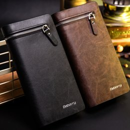 Wholesale Mens Designer Leather Handbags - 2017 Men PU Long Clutch Wallets Mens Famous Designer Card Holders Business Wallet Handbag Clips Purse Pocket Gifts