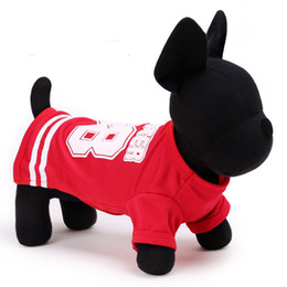 Wholesale Wear Summer Clothes For Winter - New arrivals dog clothing dog tracksuit casual sports wear for pet 4 color 5 size freeshipping