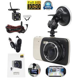 Wholesale Car Dash Camera India - New 4'' Dual Lens Camera Video HD 1080P Car DVR Vehicle Dash Cam Recorder G-Sensor automatically recording vide