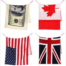 "Wholesale Beaches Ca - 2017 new American Flag Bath Towel Cotton 70x140cm 27""x55"" US, UK, CA Flag Pattern Swimming Pool Beach Towel(7)"